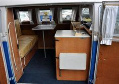 Just a car guy : VW type 2 / kombi / mini bus . whatever the correct name is, here are some interiors compared Volkswagen Westfalia Campers, Volkswagen Type 2, Vw T1, Kombi Interior, Diesel, Vw Camping, Kombi Home, Mini Bus, Banquette Seating