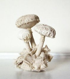 Vintage Lace Mushroom by A Sweet Reverie
