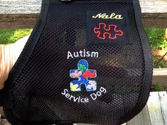 Autism Service Dog Vest. Add your dog's name. 2 Emblems. Double stitched. Variety of colors & designs. Wipes clean. Handmade to fit. by SewServiceDogs on Etsy