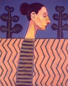 Meirion Alan Ginsberg,  Girl Profile 50cm x 40cm Oil on Canvas