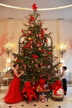 Christmas at Hotel Plaza Athenee, Paris, France