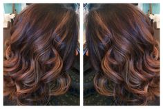 Warm browns and caramels created by Jennifer O'Guinn at Lusso Hair Studio