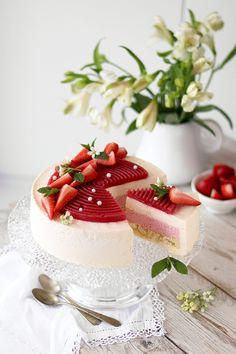 Apple Recipes, Sweet Recipes, Baking Recipes, Cake Recipes, Dessert Recipes, German Torte Recipe, Strawberry Torte Recipe, Cheesecake Decoration, Honey Toast