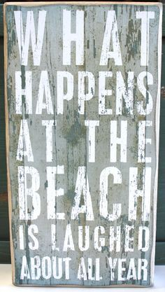 what happens at the beach is laughed about all year - Google Search