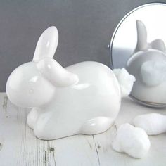 'Cotton Tail' Ceramic Cotton Wool Dispenser