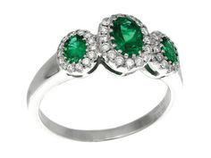 Check out this stunning GREGG RUTH Classic Color Collection Emerald & White Diamond Ring!!