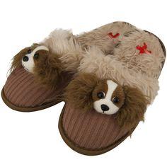 Fuzzy Nation™ Cavalier King Charles Spaniel Felt Slippers
