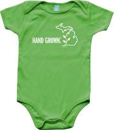 8e4d104c4 Hand Grown Baby Onesie from Michigan Awesome. Let your little one show  where their roots