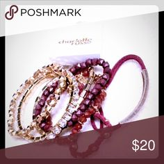 ❤️Charlotte Russe 7 Different Bracelets Set❤️ Get 50% Off in Bundle Deal 2 or more items. Beautiful set of Charlotte Russe 7 piece Bracelets Charlotte Russe Jewelry Earrings