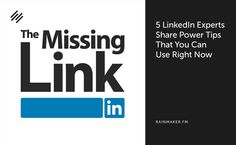 Don't miss out on the 5 best power tips to use on LinkedIn RIGHT NOW!