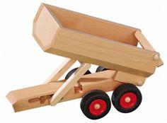 von FAGUS B-WARE Traktor-Anhänger aus masiv Holz