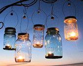 Mason jars with lights