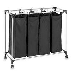 Shop for laundry sorter hamper at Bed Bath & Beyond. Buy top selling products like neatfreak™ Triple Sorter with Ironing Board and Household Essentials® Rolling Quad Laundry Sorter. Laundry Sorter Hamper, Double Laundry Hamper, Laundry Bin, Mesh Laundry Bags, Laundry Room Storage, Doing Laundry, Laundry Rooms, Hampers, Laundry Shelves