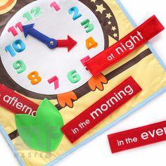 Was ist in der Box? *****  . 1 Uhr-Wandkarte mit Maß: 40 x 60 cm. . Stickerei-Clock-Messung ist 9,5. . Insgesamt 4 Stück Darstellung Phrasen über Zeit, die mit Touch Verbindungselement abnehmbar sind. . Stickerei-Phrasen (8 x 1,5) - in the Morning, am Nachmittag, am Abend, nachts. . Lernen Sie das Konzept der Zeit. . Alle sind in der Lage, gewaschen werden. Handwäsche wird empfohlen. . Jeweils genäht auf Touch Befestiger. Kein Kleber, keine Kleber & keine Giftstoffe. In Übereinstimmung m...