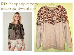 Freepeople inspired Sweatshirt Refashion