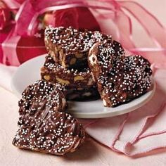 Crispy Chocolate Hearts Recipe | MyRecipes.com