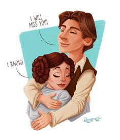 Han Solo & Princess Leia Star Wars