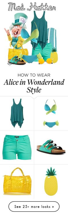 """""""Mad Hatter - Beach / Summer - Disney's Alice in Wonderland"""" by rubytyra on Polyvore featuring Linum Home Textiles, 1826 JEANS, prAna, Birkenstock and Miss Selfridge"""