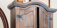 Natural wood shows through the subtle color of this wash effect