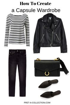 Stylish minimalist wardrobe. #minimal#minimalist#simplicity#style#simple#howtocreate#capsulewardrobe#howtowear#howtostyle#basics#fashion#fashionover40#fashionover50#classic#casual#blackheans#leatherjacket#stripetshirt#crossbodybag#leatherbag#lifestyle#womensfashion#spring#summer#fall#allyearround#workwear