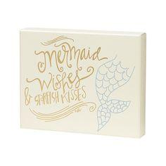 Mermaid wishes and starfish kisses box sign.