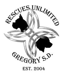 Rescues Unlimited is based in Gregory, South Dakota.  The mission of Rescues Unlimited is to save neglected animals by placing them in a loving home.  Rescues Unlimited focuses mostly on dogs, but has also placed cats and raccoons.Gregory, SD | 605-835-8780 or 605-828-2469 rescuesunlimitedsd@gmail.com rescuesunlimited.com