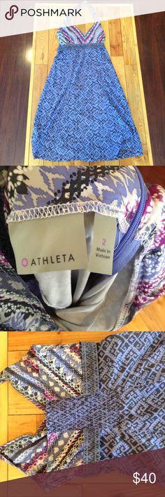 Athleta halter tie dress size 2 Zippered side closure. Halter tie top Athleta Dresses