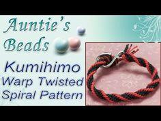 12 Warp Twisted Spiral Pattern - Kumihimo Episode 4 - YouTube