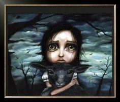 Angelina Wrona - Big Eyed Art (: love this artist