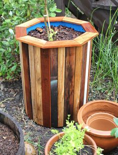 I wanted to build some simple, low cost & attractive containers for a few fruit trees that were ready to be replanted in my backyard.  Using second hand 55 gallon food safe plastic barrels and some scrap wood that I cleaned up on the planer, I was able to create some very basic planters for my backyard garden.  The wood was free and the barrels were purchased off of craigslist for $10 a piece.   The project came together in an easy afternoon at the ...