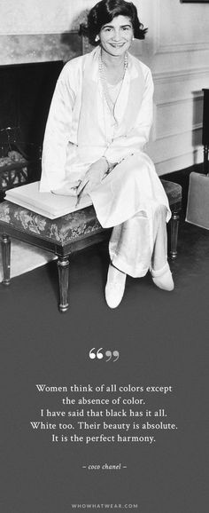 Coco Chanel's wardrobe element #3: Black and white