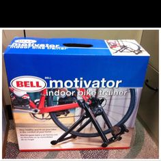 You don't need an expensive stationary bike to work out. Just buy one of these stands for your traditional bike and you're good to go. $80.
