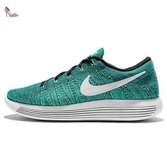 buy popular b26ec 7ae7e Nike Lunarepic Low Flyknit, Chaussures de Running Homme, Verde (Rio Teal    White
