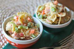 Honey Mustard Pasta Salad (oh gosh, this sounds good...)