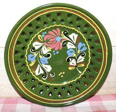 Vintage Hungarian Ceramic Plate  Hand Painted by MuzettasWaltz, $20.00