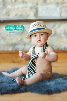 Baby Boy 6 to 9 month picture.  Christina Bailitz Photography