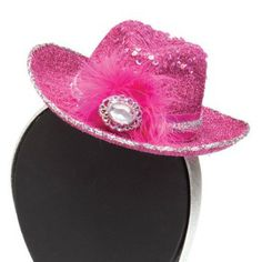 Pink Cowboy Hat Headband