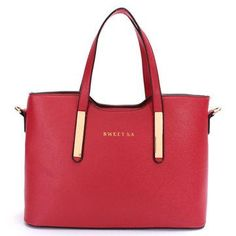 #NewChic - #NewChic Fashion Leather Bag Ladies Elegant Tote Shoulder Handbag - AdoreWe.com