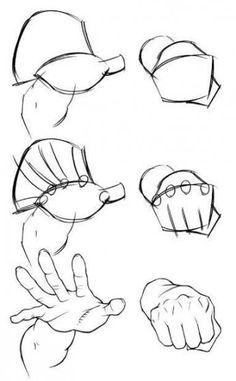 Anatomy Drawing Tutorial illustration tips Pencil Art Drawings, Art Drawings Sketches, Cartoon Drawings, Hand Drawings, Cartoon Faces, Cartoon Cartoon, Drawings Of Hands, How To Draw Cartoons, How To Draw Comics