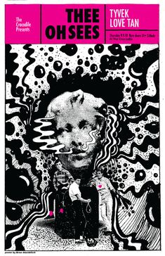 Thee Oh Sees Croc Poster Brian Standeford Design in Poster