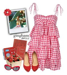 """gingham dress"" by mmk2k ❤ liked on Polyvore featuring FixDesign, Pyle, Tivoli Audio, dress and gingham"