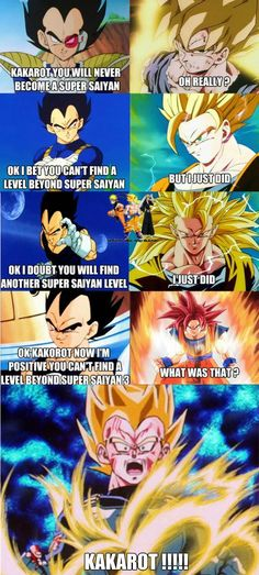 Super Saiyan 1-4...and now there's a level above that...poor Vegeta