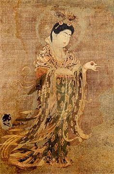 Kichijoten, Goddess of Beauty, Fertility, Prosperity, and Merit, Nara Period, 8th Century, Treasure of Yakushiji Temple-onmarkproductions.com