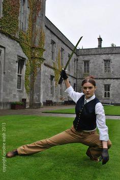 Waistcoat from the original photo shoot. Female Tardis, Photos by Caroline Walsh 2013.