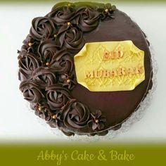 Chocolate cake.  Eid Mubarak chocolate cake. Islamic cake