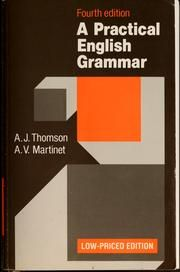Cover of: A practical English grammar by A. J. Thomson