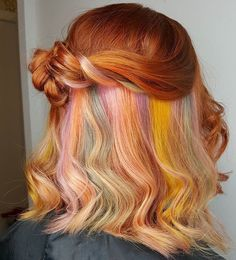 Rainbow Pastel Undercolor Bright Spring Cute Fun Hair Color