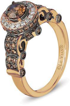 Le Vian Chocolatier Le Vian 14ct Strawberry Gold Chocolate Diamond Ring