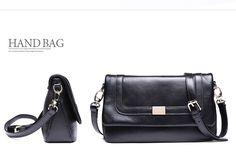 Small satchel leather shoulder bag with adjustable strap by DUDU -