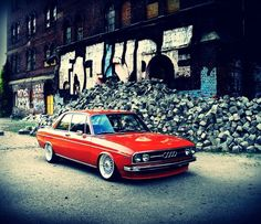 Audi A motofreibeuter Audi 100, Audi Sport, Sport Cars, Chevy Impala, Retro Cars, Vintage Cars, Red Audi, Allroad Audi, Slammed Cars